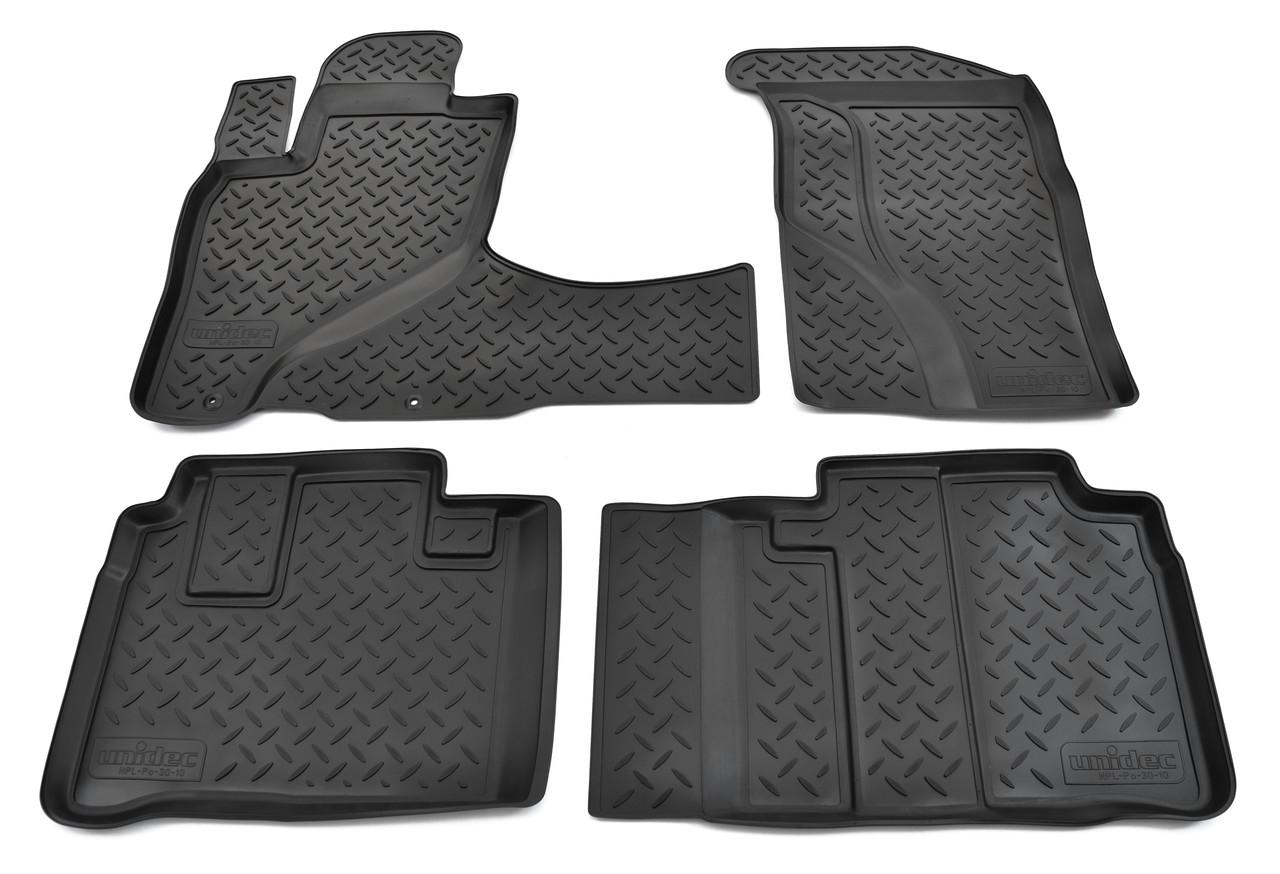 Коврики в салон для Honda CR-V (RD4,RD5) (01-06) АКП (полиур., компл - 4шт) NPL-Po-30-10