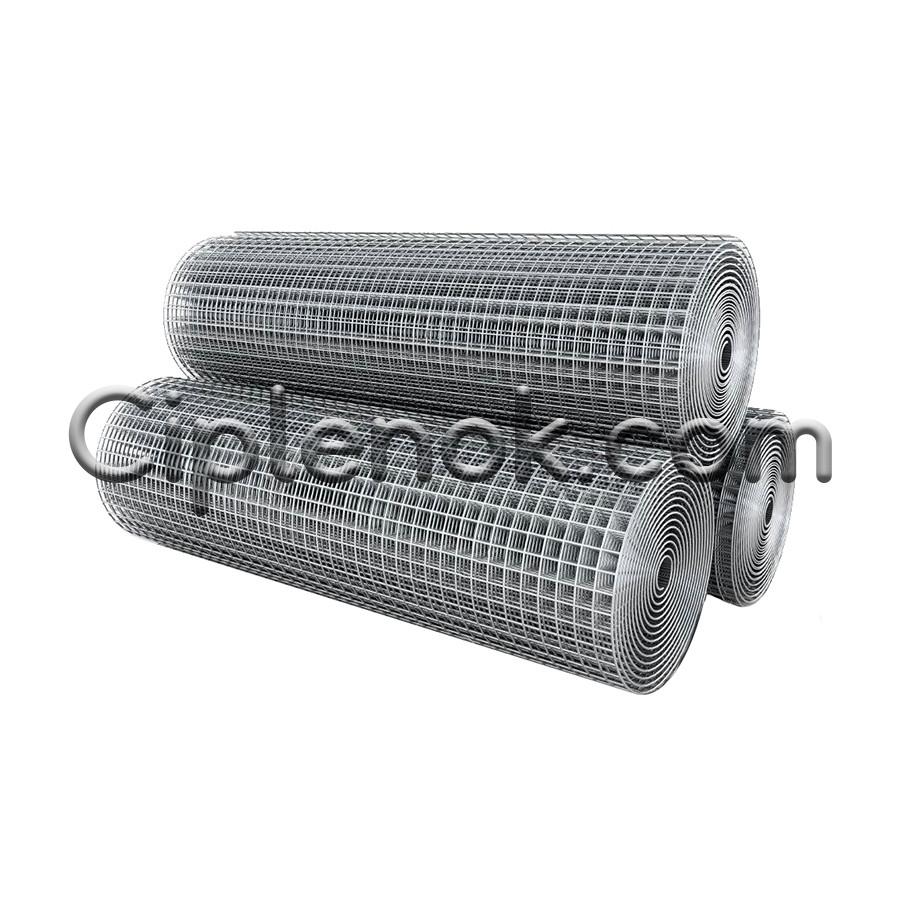 Сетка сварная оцинкованная 12х12 мм, Ø 1,4 мм, ш. 1 м, дл. 25 м для клеток