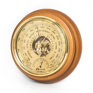 Барометр термометр бтк-сн 8, размер 21х5см,Оргинал,золотой ,даем паспорт, фото 2