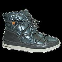 Молодежные плащевые ботинки на меху