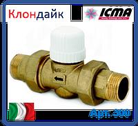 Icma 2-х ходовой вентиль с возможностью установки термоголовки