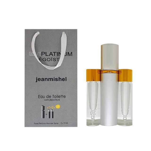 Мужской мини-парфюм Jeanmishel Love Platinum Egoiste (3 по 15 мл ) №18