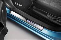 Накладки на пороги с подсветкой для Nissan Leaf (10-17)
