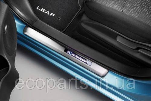 Накладки на пороги с подсветкой для Nissan Leaf (10-17), фото 2