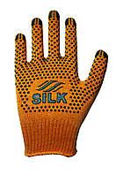 Трикотажні рукавиці з ПВХ Silk 1077п