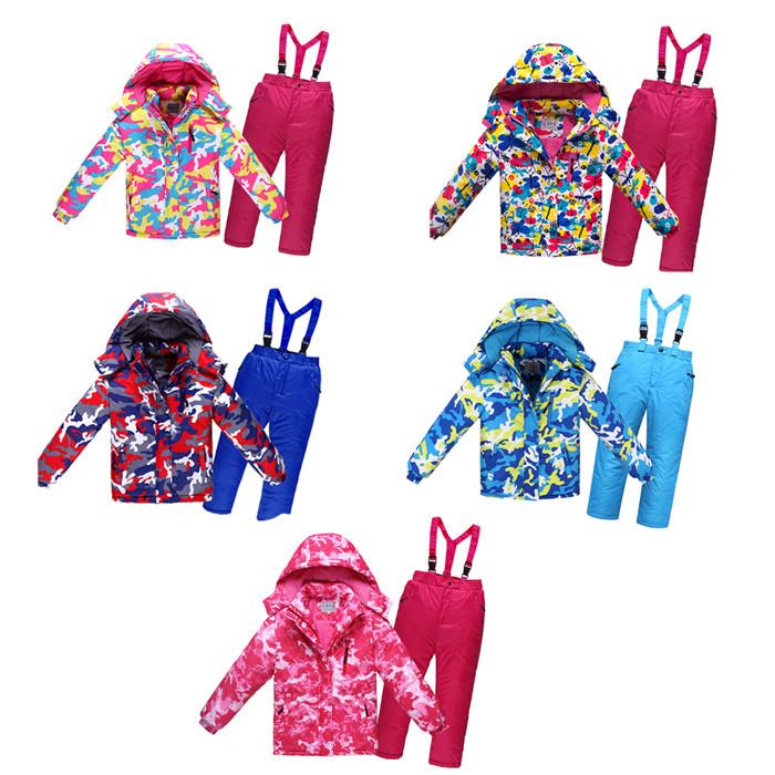 Лыжные костюмы детские - 5 принтов