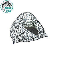 Палатка зима-лето  2*2, белый камуфляж, клапан под лунки