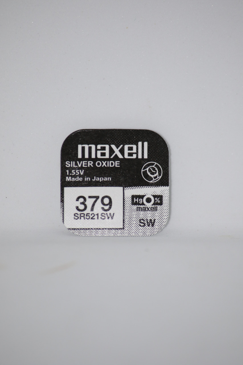 Часовая батарейка Maxell SR521SW 1PC  EU (379)