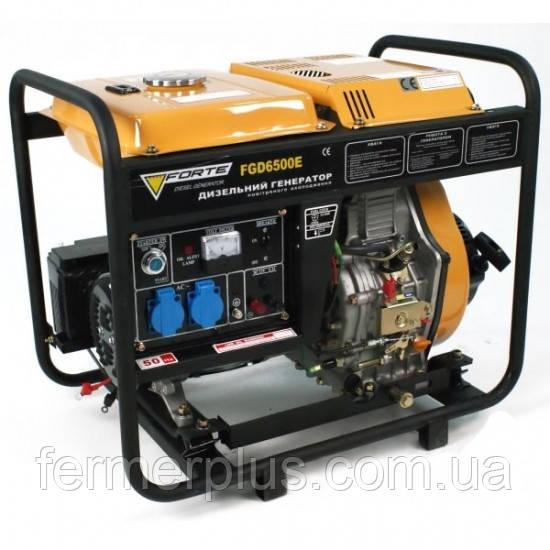 Генератор дизельный Forte FGD6500E3  (5,5 кВт, 3 фазы) Бесплатная доставка