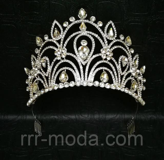 Бижутерия оптом RRR женские аксессуары для волос. Высокие короны оптом.