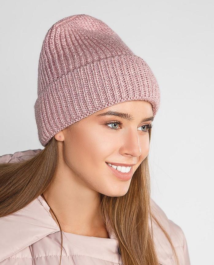 Женская шапка-бини 28532 Gepur УН пудрово-розовый