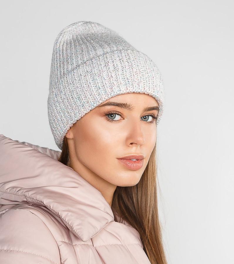 Лаконичная зимняя шапка 285362 Gepur УН белый