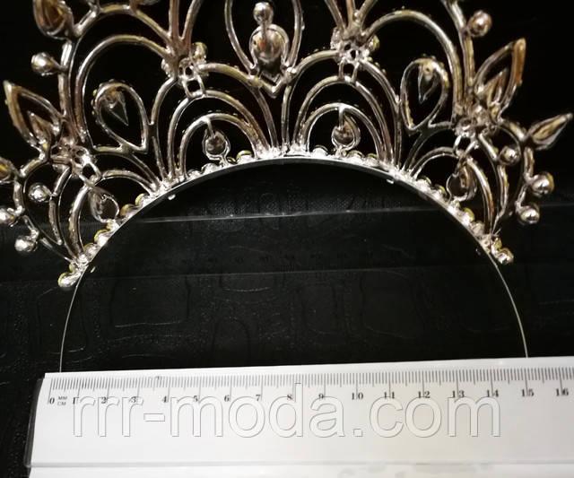 Высокие свадебные короны более 10 см оптом.