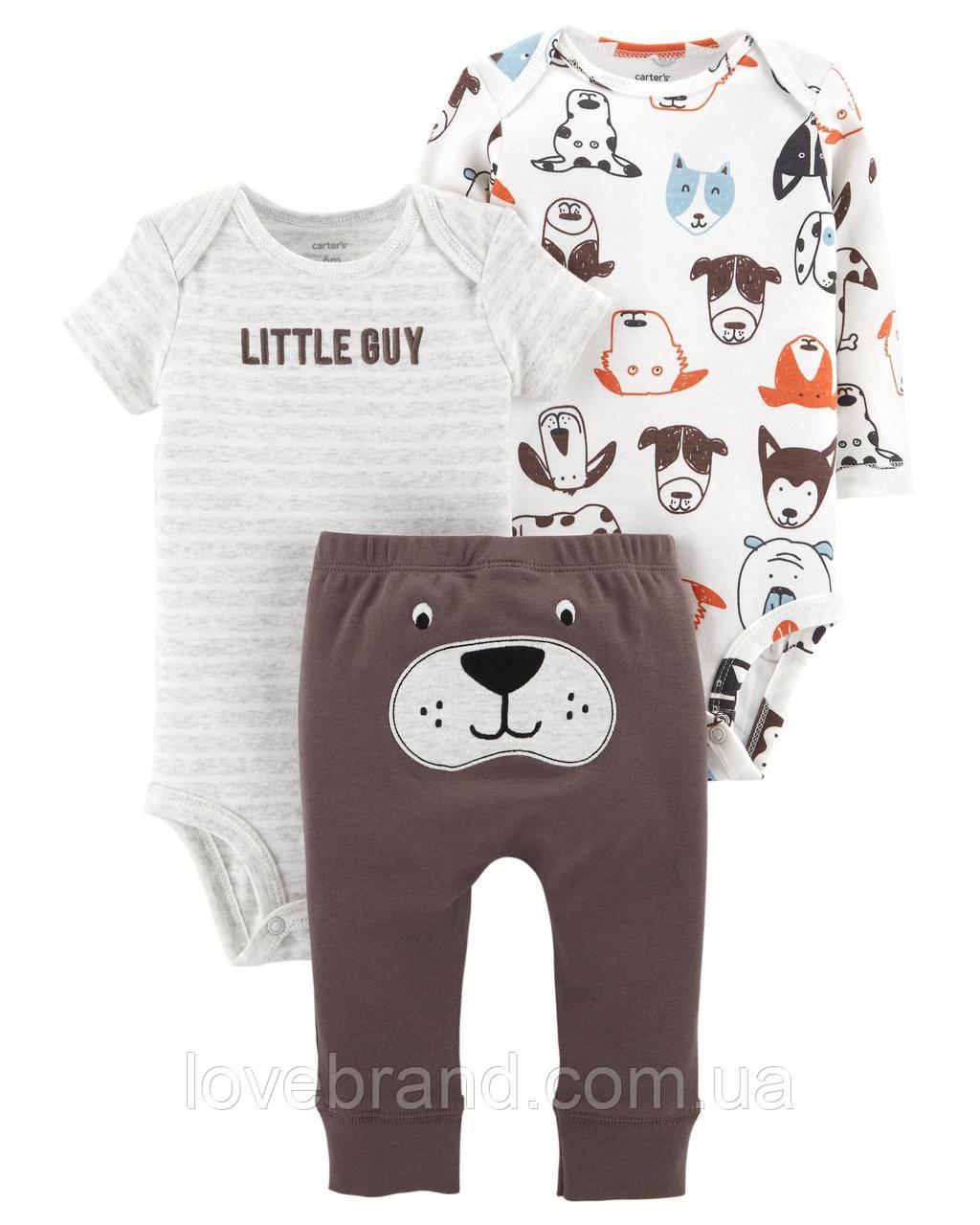 "Набор Carter's ""Собачка""  для мальчика два боди + штанишки"