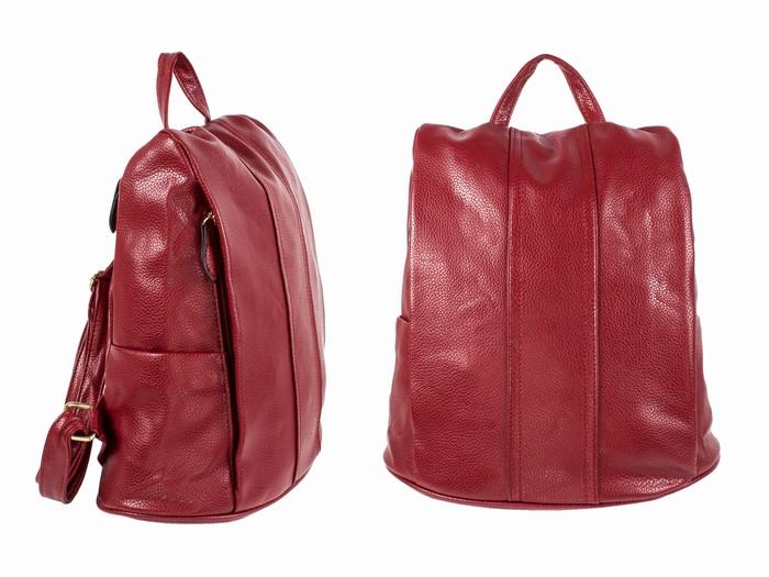 Женский красный рюкзак кожзам