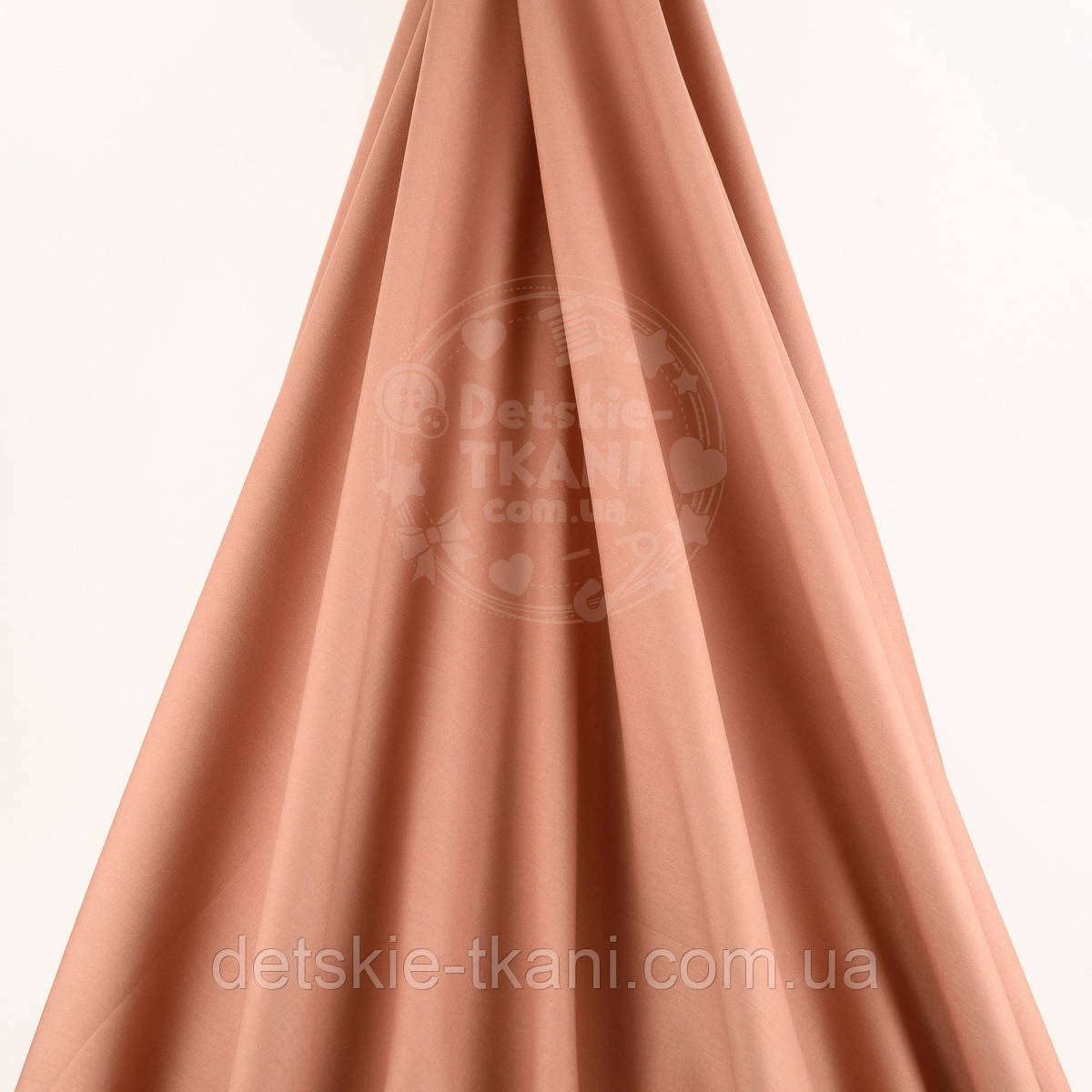 Поплін однотонний, колір коричнево-мідний (№1571)