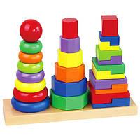 Пирамидка деревянная Viga Toys 50567