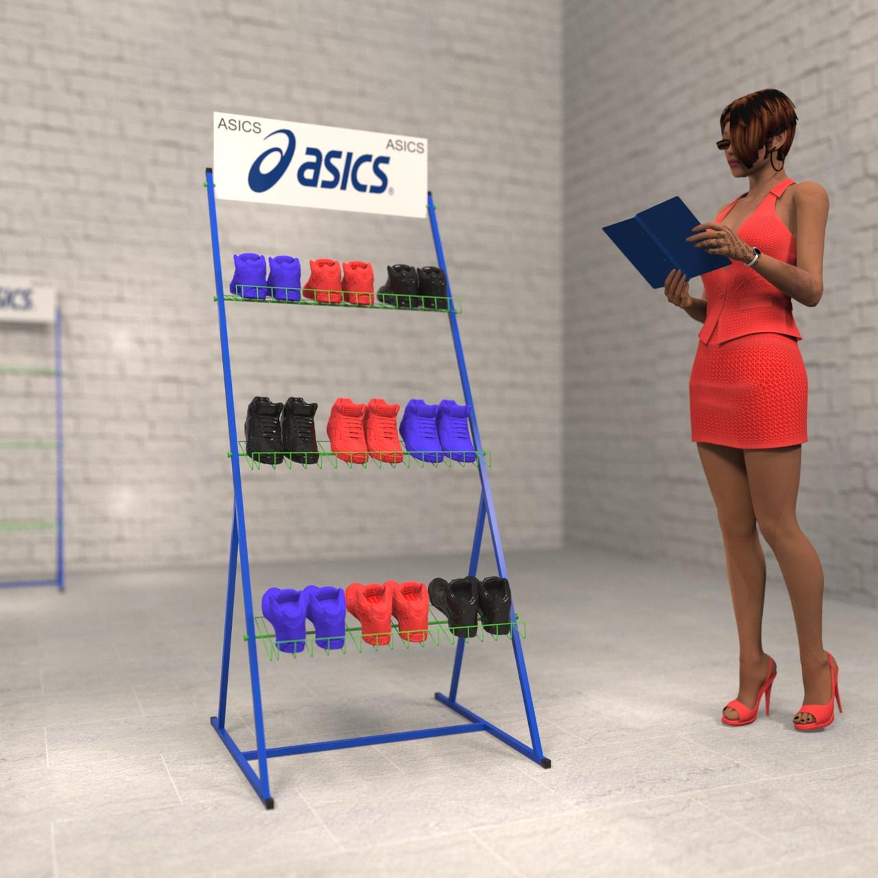 Торговые стойки ASICS для обуви от VARGO