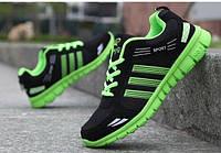 Недорогие мужские летние кроссовки зеленые