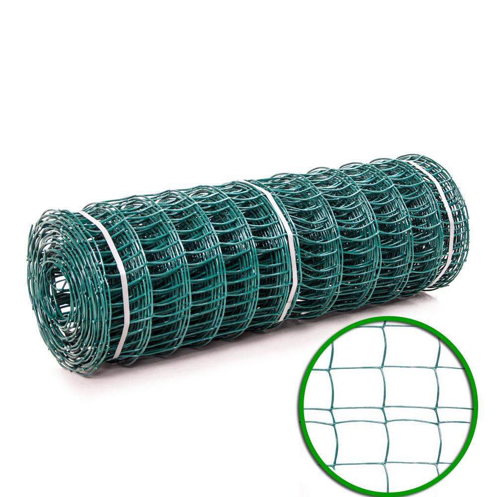 Сетка пластиковая декоративная (1,0мх20м) 85*95 темно- зеленая