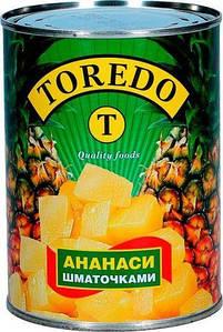 Ананасы кусочками TOREDO 850 грамм