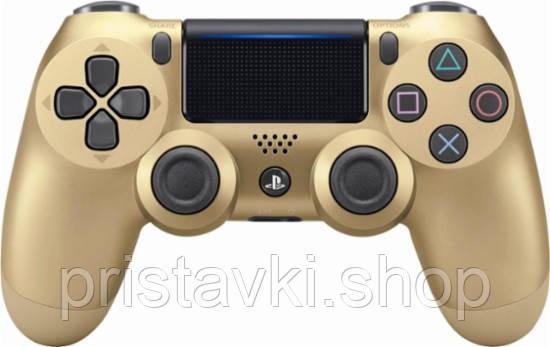 Джойстик Playstation 4 золотой v2