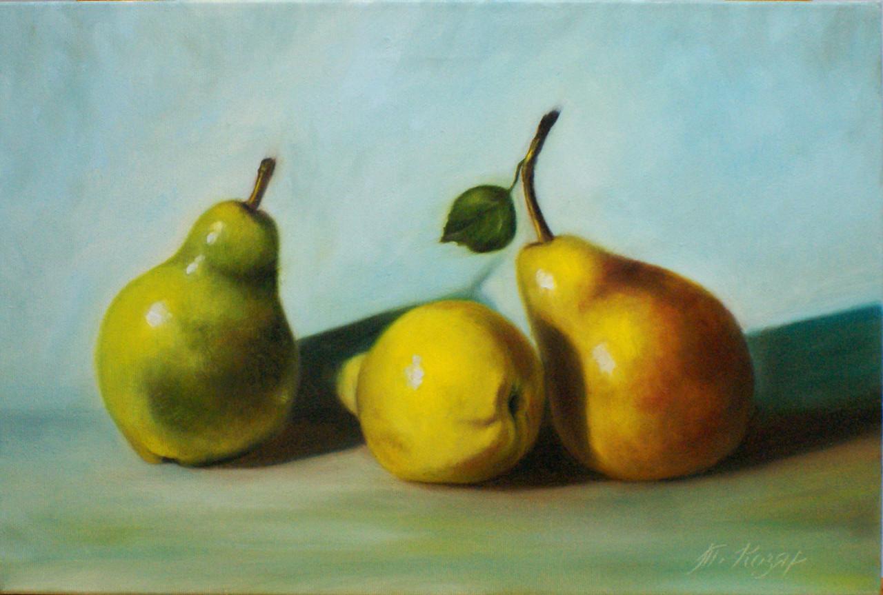 Груши (натюрморт) холст 45х30 картина масло