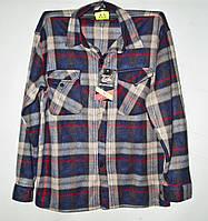 Рубашка мужская байковая в клетку размеры XL-5XL Серии