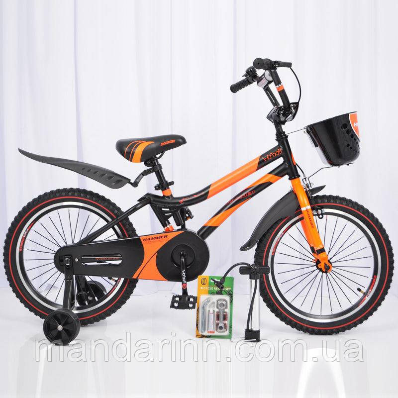 """Детский  велосипед 18""""HAMMER"""" S500 Черно-Оранжевый"""