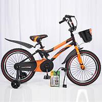 """Детский  велосипед 18""""HAMMER"""" S500 Черно-Оранжевый, фото 1"""