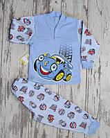 Пижама  для мальчика, футер. Машинки (последний размер 28)