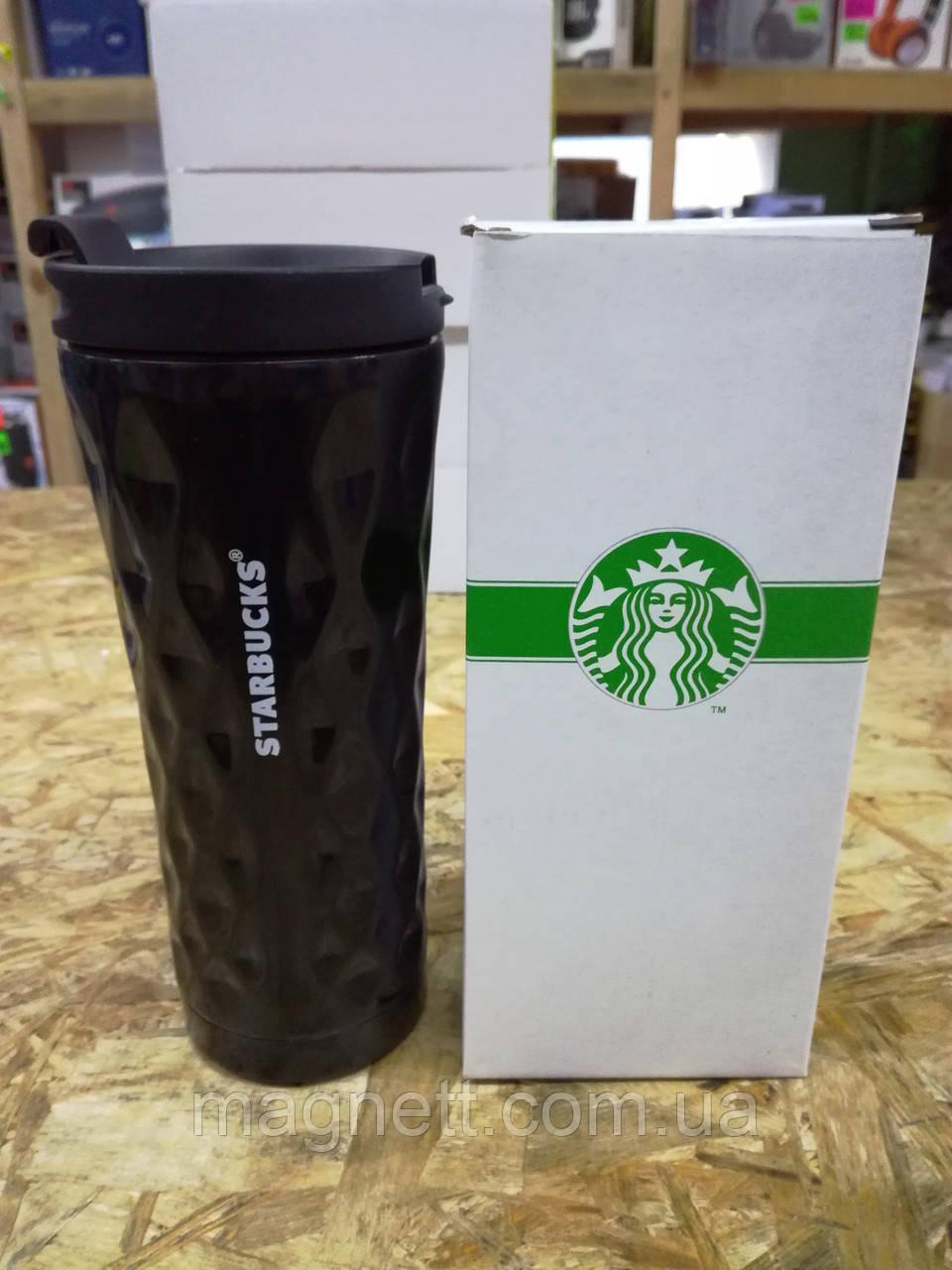 Термо чашка Starbucks Старбакс фигурная черная 500 мл