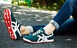 Зеленые мужские недорогие кроссовки с полосами, фото 2