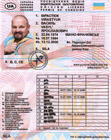 Водительское удостоверение Вирастюк Василий