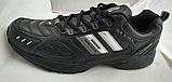 Мужские кожаные кроссовки Veer Demax размер  ЕВРО 41 42 43 44 45 46 черные, фото 3