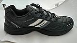 Мужские кожаные кроссовки Veer Demax размер  ЕВРО 41 42 43 44 45 46 черные, фото 2