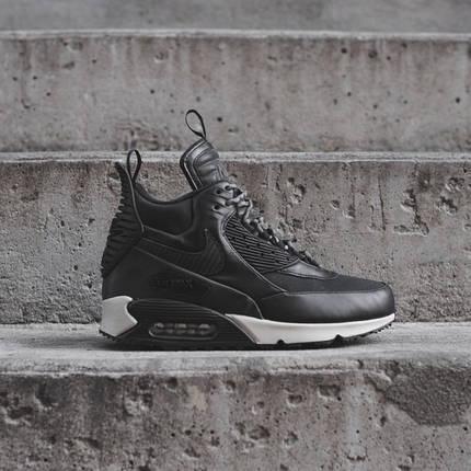 "Зимние кроссовки Nike Air Max 90 Sneakerboot ""Black/White"" (Черные/Белые), фото 2"