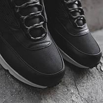 "Зимние кроссовки Nike Air Max 90 Sneakerboot ""Black/White"" (Черные/Белые), фото 3"