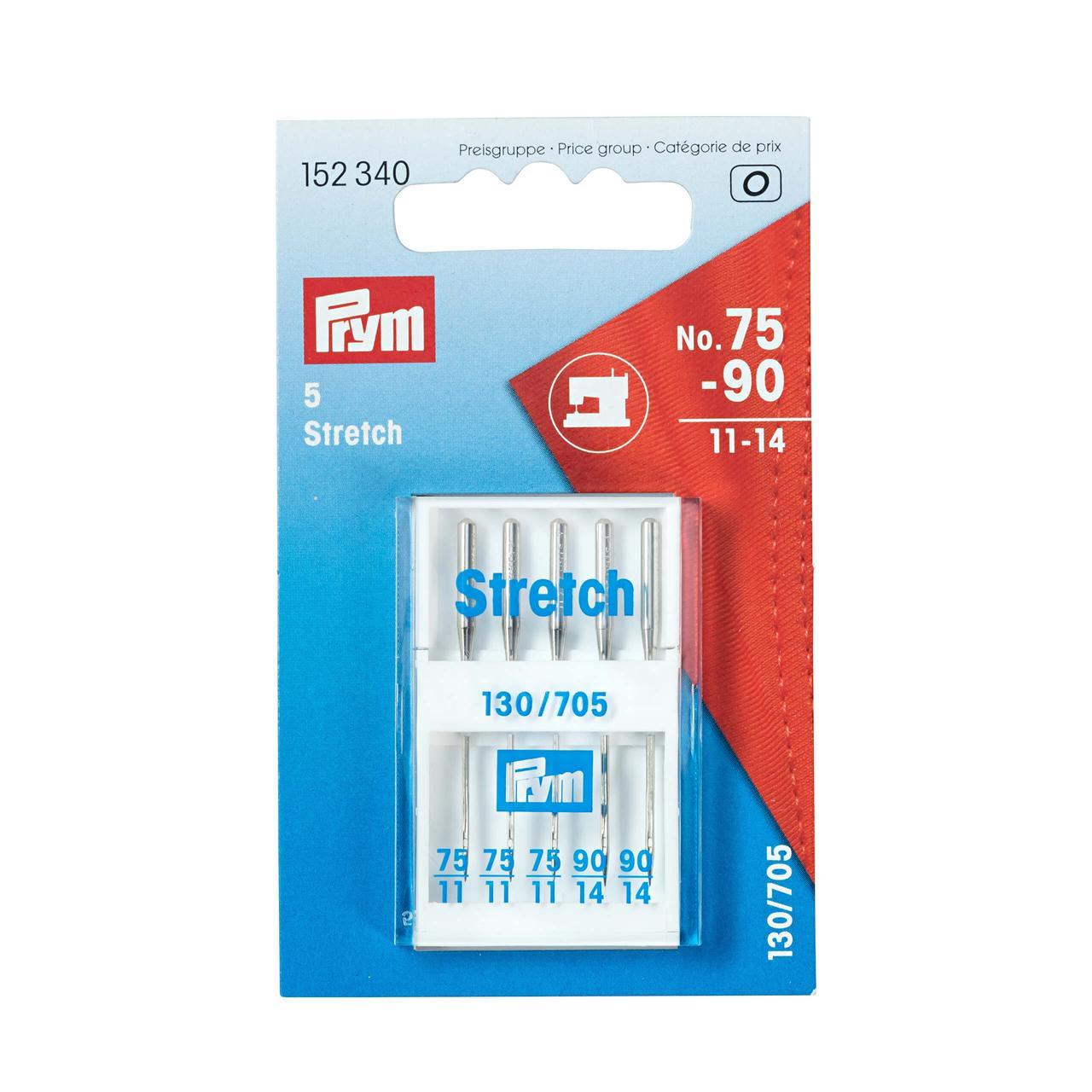 Иглы для швейных машин Prym 152340 (Стрейч 130-705 75-90, 5 шт.)