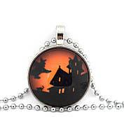 Подвес кабошон-ведьма на метле на Хэллоуин, фото 1