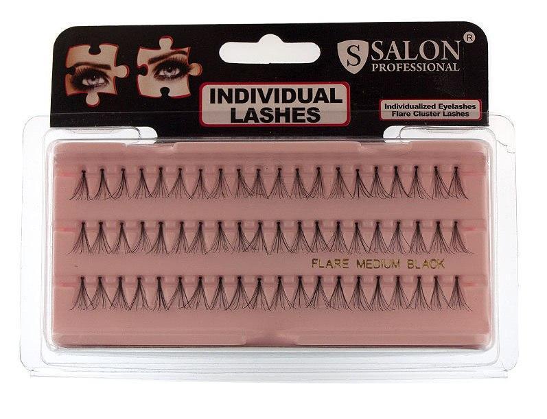 Пучковые ресницы Salon Professional, MEDIUM BLACK, средние