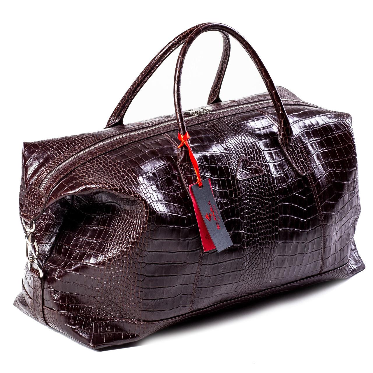 c96e0e43e5ee Сумка дорожная саквояж кожаный коричневый Eminsa 6545-4-3 - Тибериус —  магазин стильных