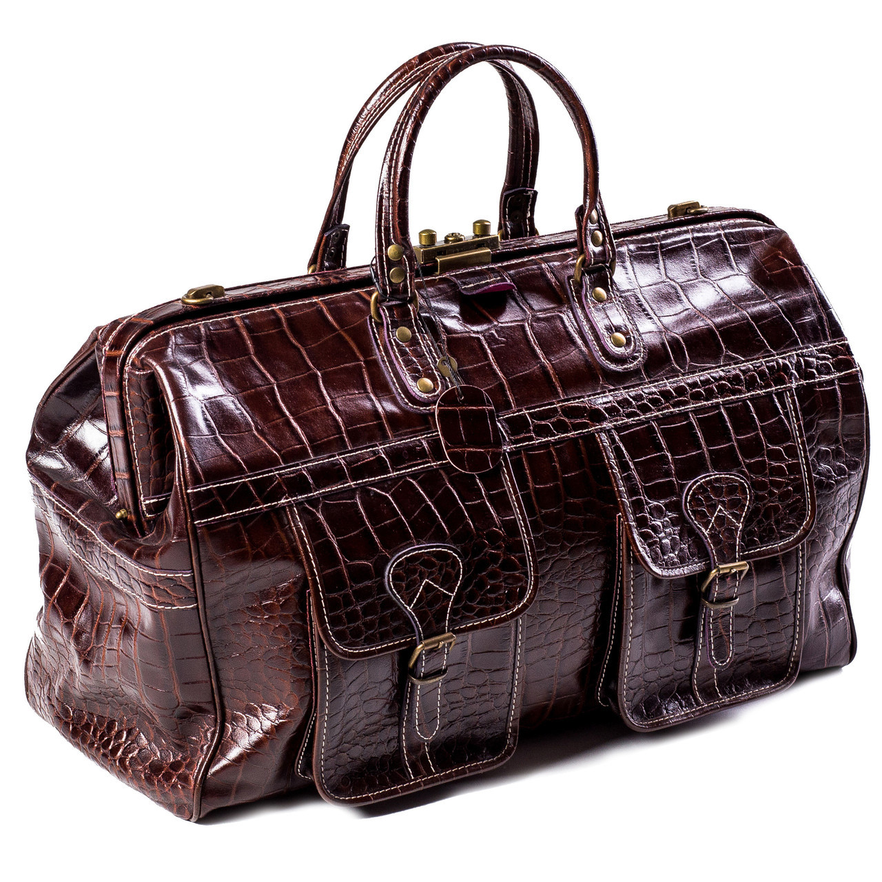 d0b17ae1 Сумка дорожная саквояж кожаный коричневый Eminsa 6519-4-3: продажа ...