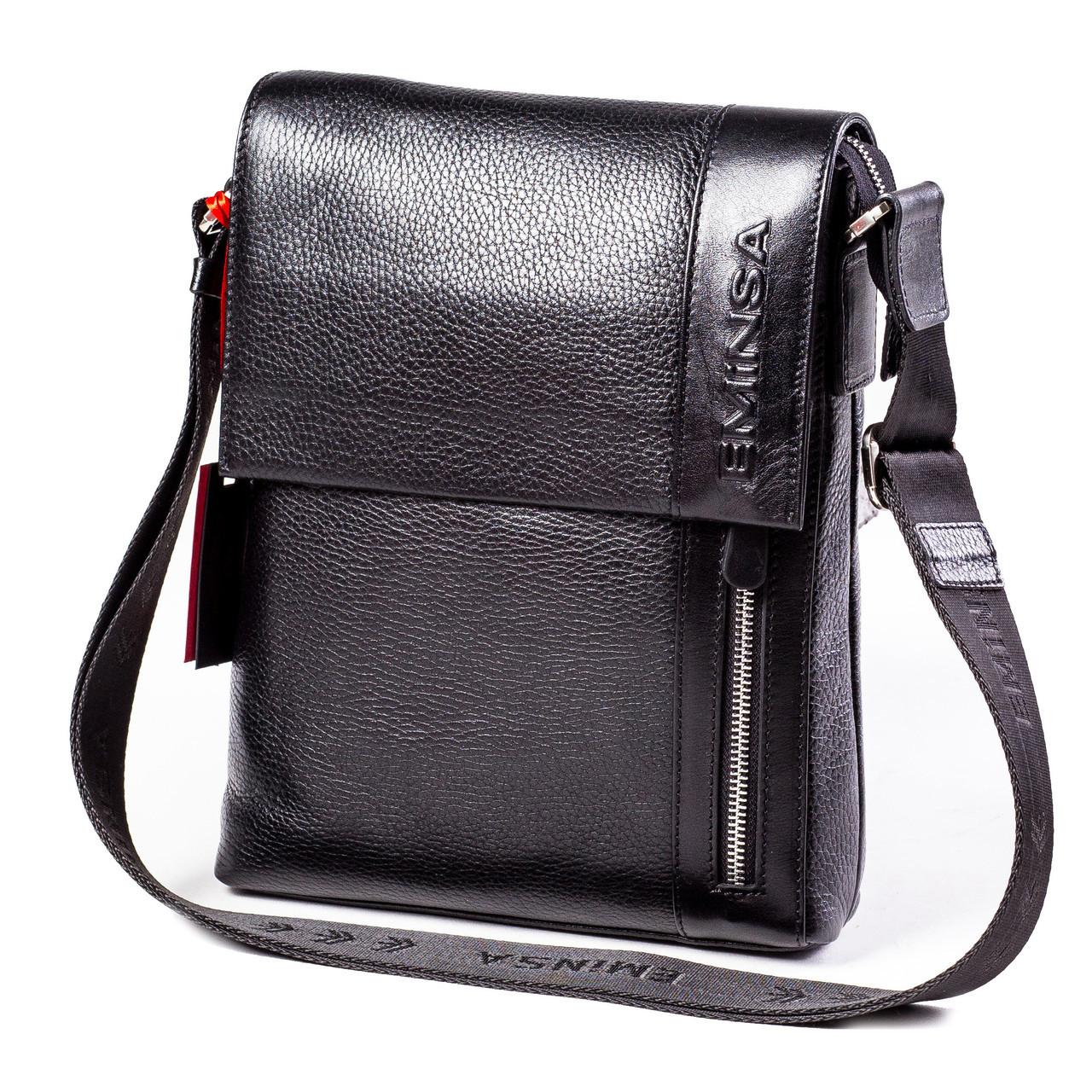 1bba20dda194 Мужская сумка кожаная черная Eminsa 6044-37-1  продажа, цена в ...