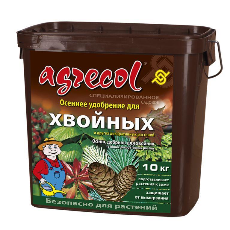 Осеннее удобрение 0-0-25 Агрекол для хвойных растений, 10 кг