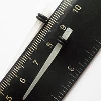 Для пирсинга ушей конусная растяжка (диаметр 2.5 мм). Прозрачный акрил (светиться в темноте). Цена за 1шт., фото 1