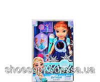 Лялька принцеса Ельза, Ганна з мікрофоном Frozen Холодне серце 37см, очі -скло, музика, світло
