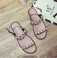 Летние розовые женские сандали дешевые