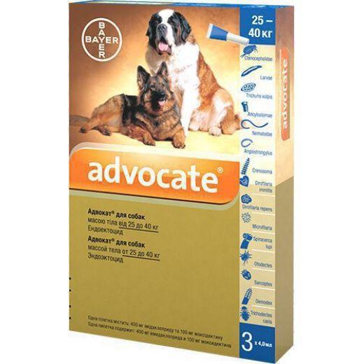 Адвокат Advocate д/собак более 25 кг. (1 тюбик)