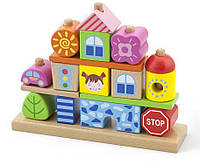 Набор кубиков Viga Toys Город (50043)